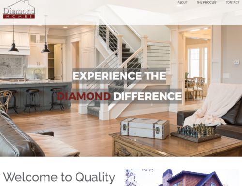 Diamond Homes of Idaho Website Update